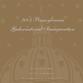 2003 Pennsylvania Gubernatorial Inauguration Program